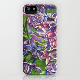 His Wife's Lilacs iPhone Case