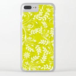 Floral Textile Art - 9 Clear iPhone Case