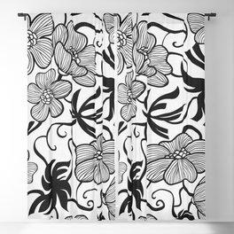 Paris 1929 - Retro Vintage Poppy Flowers Blackout Curtain