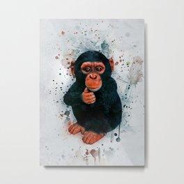 Baby Chimpanzee Metal Print