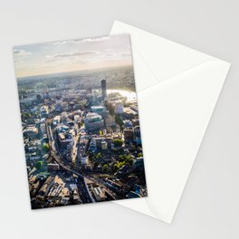 View of London from the Shard During Sunset | England Britain Cityscape Urban Landscape Photography Stationery Cards