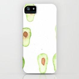 Avocado Rain iPhone Case