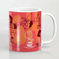 snoopy Mugs featuring SNOOPY AAUGH! by d.ts