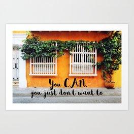 Cartagena de Indias street Art Print
