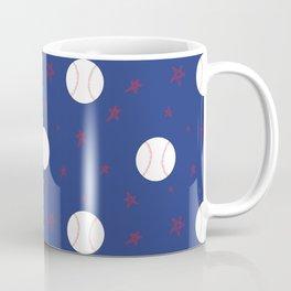 Baseball & Stars - Blue Coffee Mug