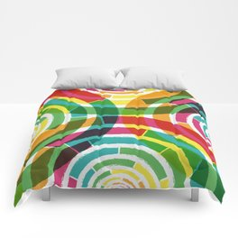 Colorful shouts Comforters