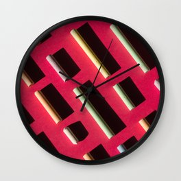 Chalks. Minimalism. Wall Clock