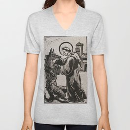 Compassion for a werewolf Unisex V-Neck
