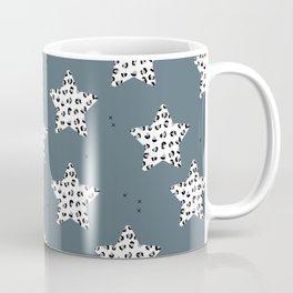 Leopard Star Blue Patern Design Print Coffee Mug