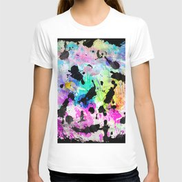 Colorful hand painted watercolor splatters pattern T-shirt