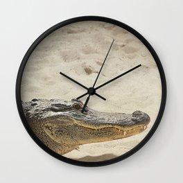 Alligator Photography   Reptile   Wildlife Art Wall Clock