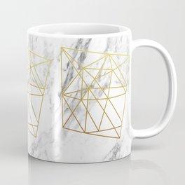 Gold geometric marble Coffee Mug