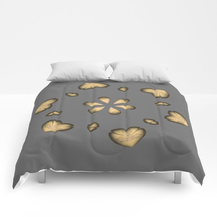 Golden Hearts Golden Luxury Week Wednesday Comforters