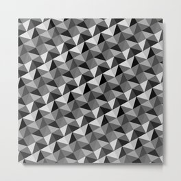 Pattern of triangles in gray shades Metal Print
