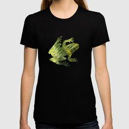Green Water Abstract Art T-shirt