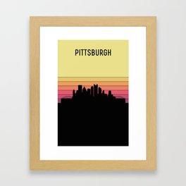 Pittsburgh Skyline Framed Art Print