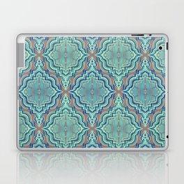 Marker Moroccan in Aqua, Cobalt Blue, Taupe & Teal Laptop & iPad Skin