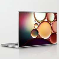 oil Laptop & iPad Skins featuring Oil On Water Colourful by ALLY COXON