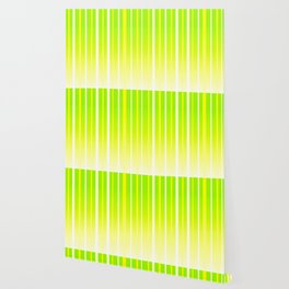 Dissolving Stripes Pattern in Bright Spring Green and Yellow Wallpaper
