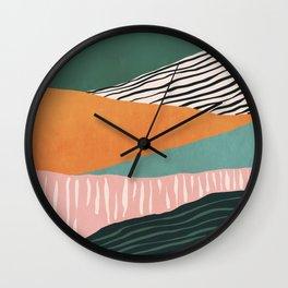 Modern irregular Stripes 02 Wall Clock