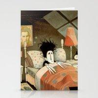 edward scissorhands Stationery Cards featuring Edward Scissorhands by Daniela Volpari