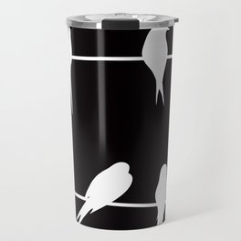 Birds on wires Travel Mug