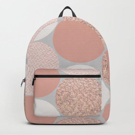 Rose Gold Dots Backpack