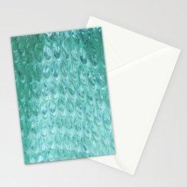 Aqua Bubble Wrap Stationery Cards