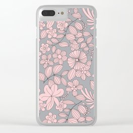 Flowers XIV Clear iPhone Case