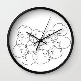 Smol pile of maomao Wall Clock