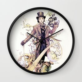 Willy Wonka and his chocolate factory Wall Clock