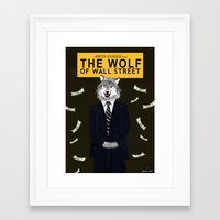 wolf of wall street Framed Art Prints featuring The Wolf of Wall Street by Dano77