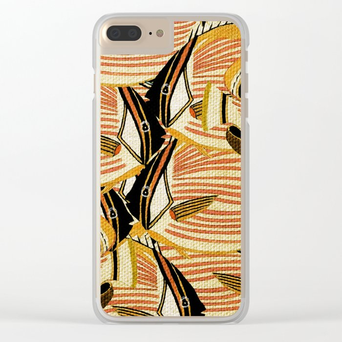 Crowd Fish 5 Clear iPhone Case