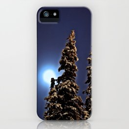 Moonlight in Lapland, Finland iPhone Case