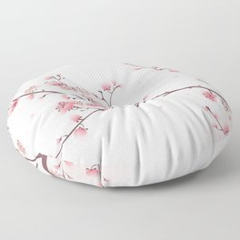 Oriental cheery blossom in spring 006 Floor Pillow