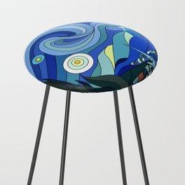 Tardis Art Starry Night Counter Stool