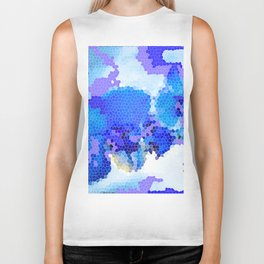 Blue Abstract Biker Tank