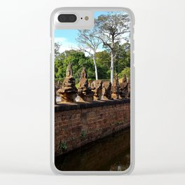 Angkor Wall Cambodia Clear iPhone Case