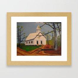 Cades Cove Methodist Church Framed Art Print