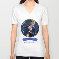 league of legends V-neck T-shirts featuring League Of Legends - Janna by TheDrawingDuo