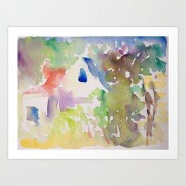 Summer Garden Light Art Print