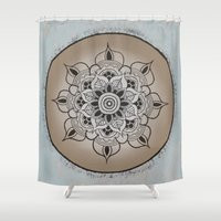 new year Shower Curtains featuring New Year by Danielle Harshenin