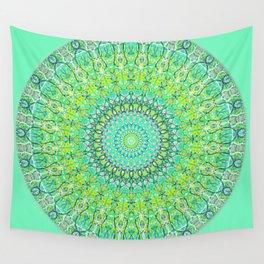 Green Geometric Mandala 0118 Wall Tapestry