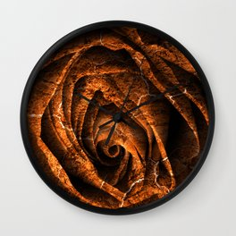 Burning Grunge Rose Wall Clock