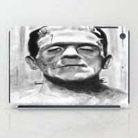 frankenstein iPad Cases featuring Frankenstein by Leyla Buk