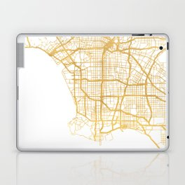 LOS ANGELES CALIFORNIA CITY STREET MAP ART Laptop & iPad Skin