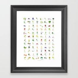 Produce Palette Framed Art Print
