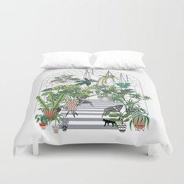 greenhouse illustration Duvet Cover
