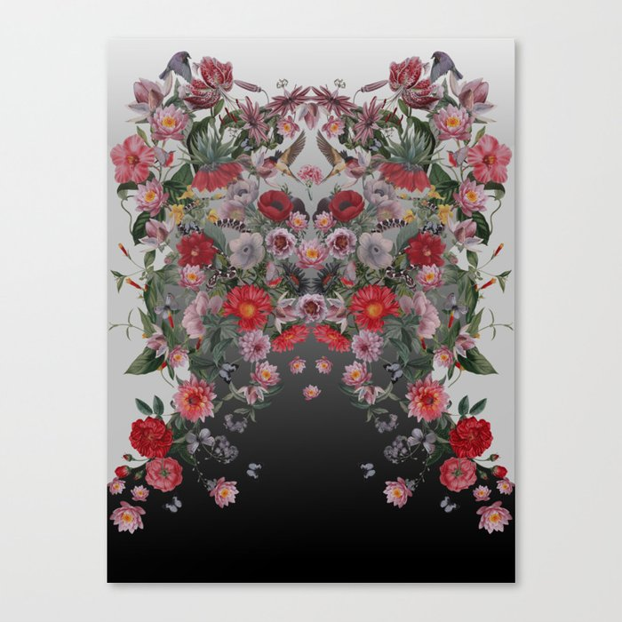 Flowers and Animals Canvas Print