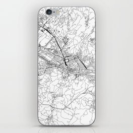 Florence White Map iPhone Skin